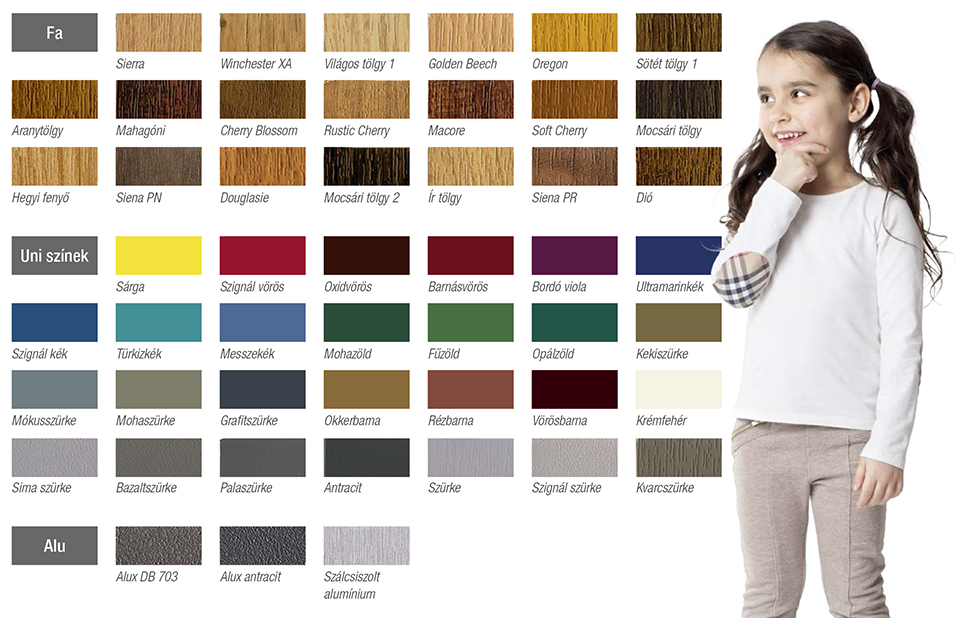 synego színek