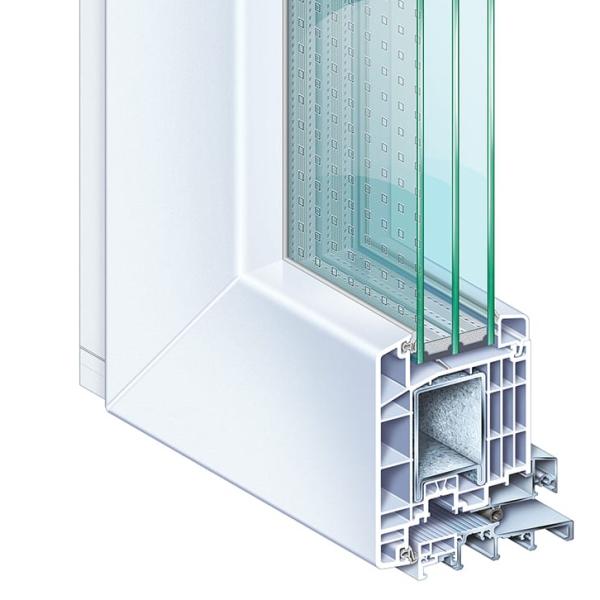 Kömmerling 88 műanyag bejárati ajtó