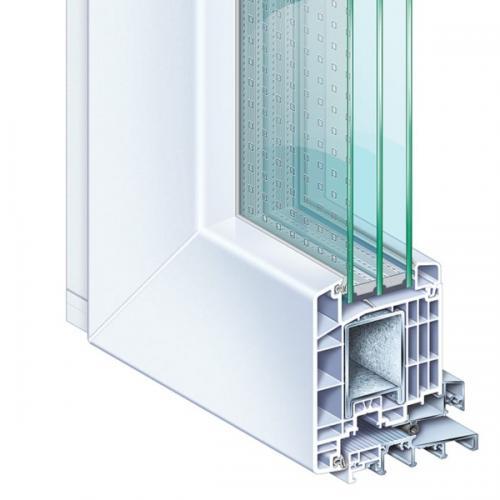 Kömmerling 88 műanyag bejárati ajtó kép